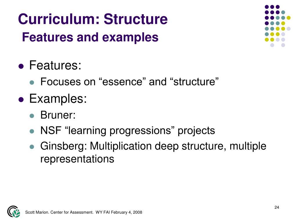 Curriculum: Structure