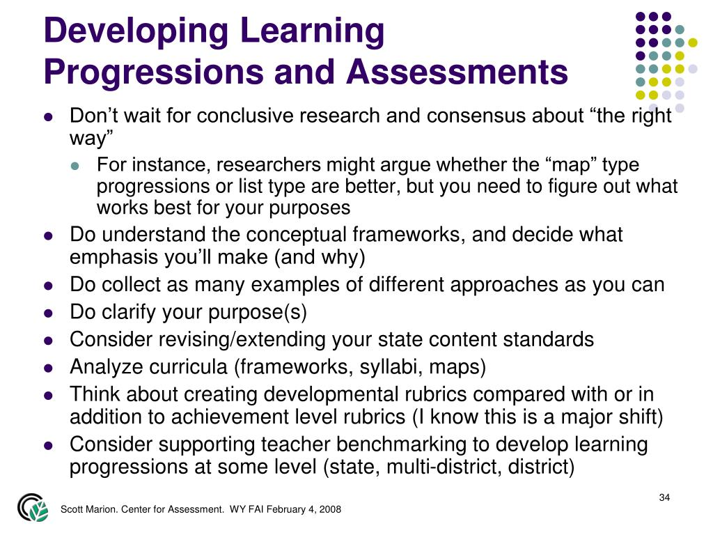 Developing Learning Progressions and Assessments
