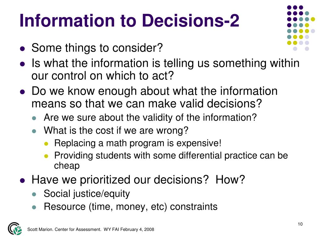 Information to Decisions-2