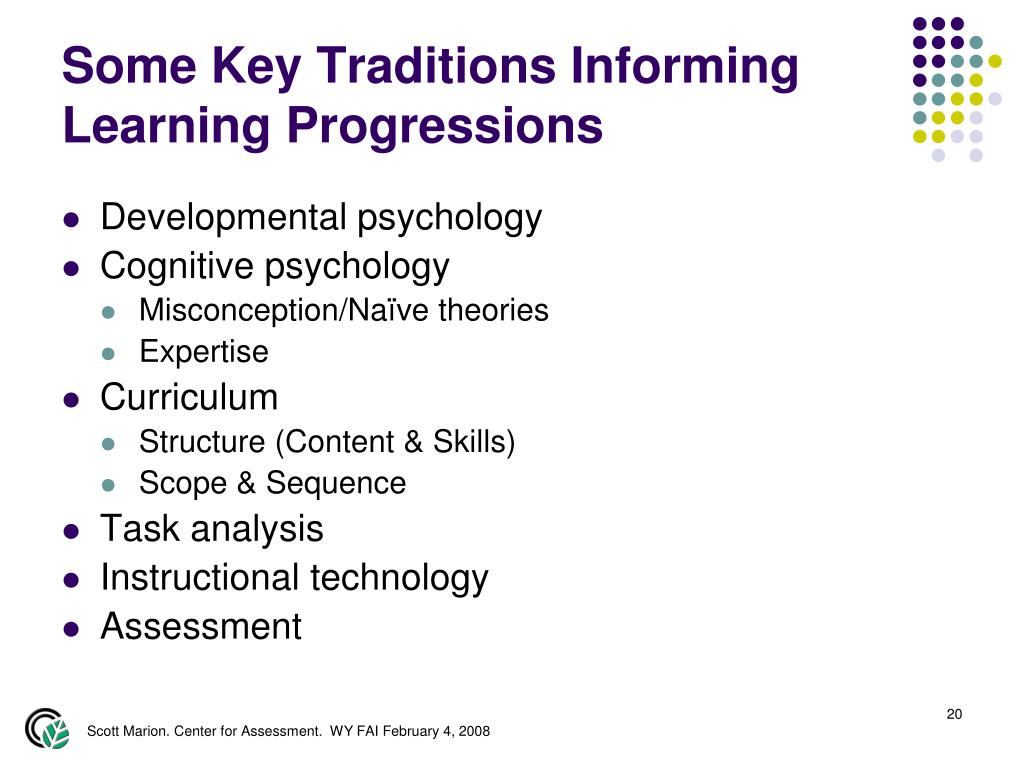 Some Key Traditions Informing Learning Progressions