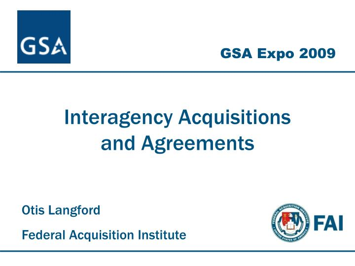 interagency acquisitions and agreements n.