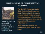 disarmament of conventional weapons
