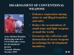 disarmament of conventional weapons22