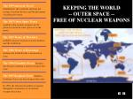 keeping the world outer space free of nuclear weapons