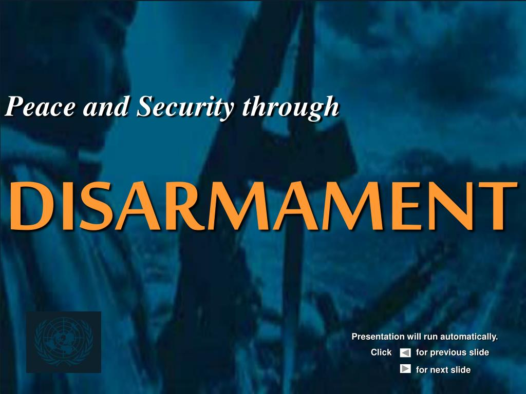 peace and security through disarmament l.