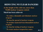 reducing nuclear dangers