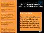 timeline of historic treaties and agreements