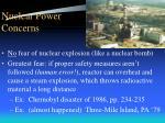 nuclear power concerns