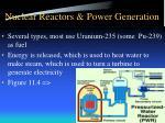 nuclear reactors power generation