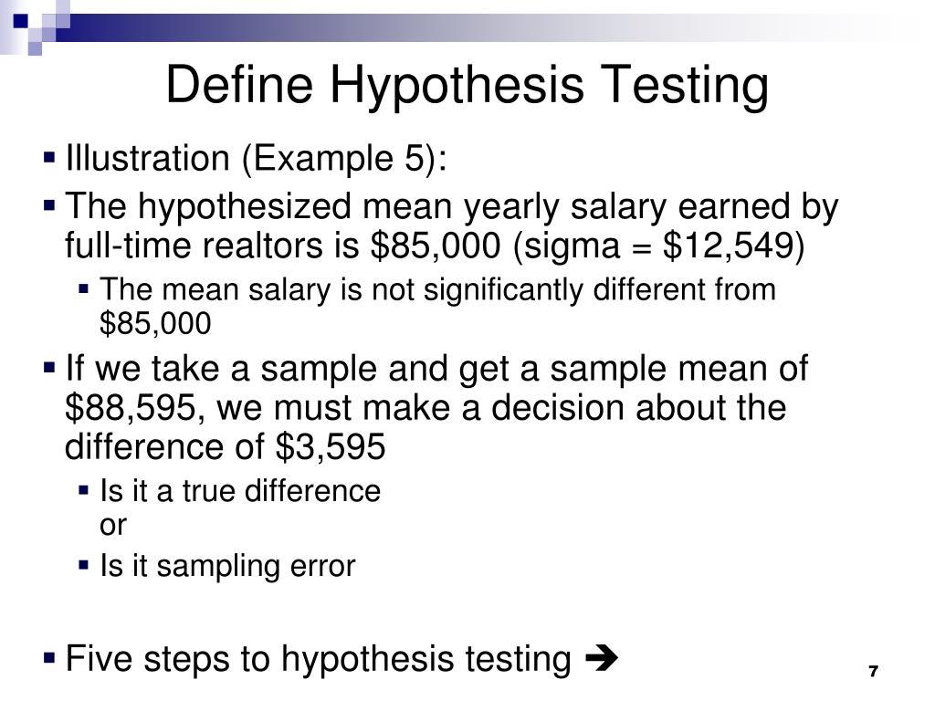 Define Hypothesis Testing