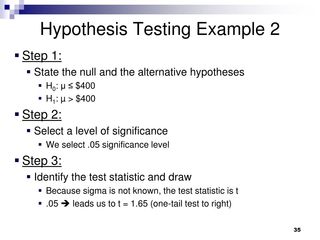 Hypothesis Testing Example 2