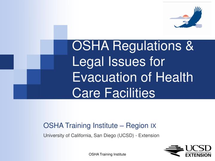 osha regulations legal issues for evacuation of health care facilities n.