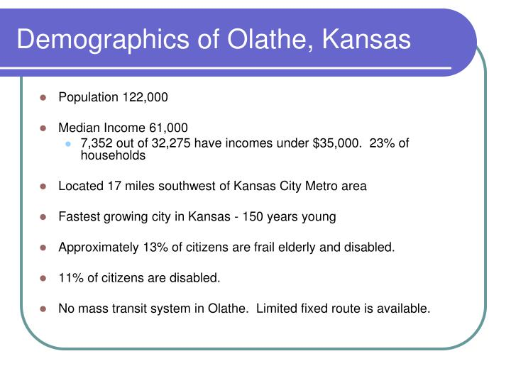 Demographics of olathe kansas