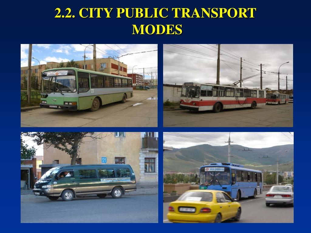 2.2. CITY PUBLIC TRANSPORT