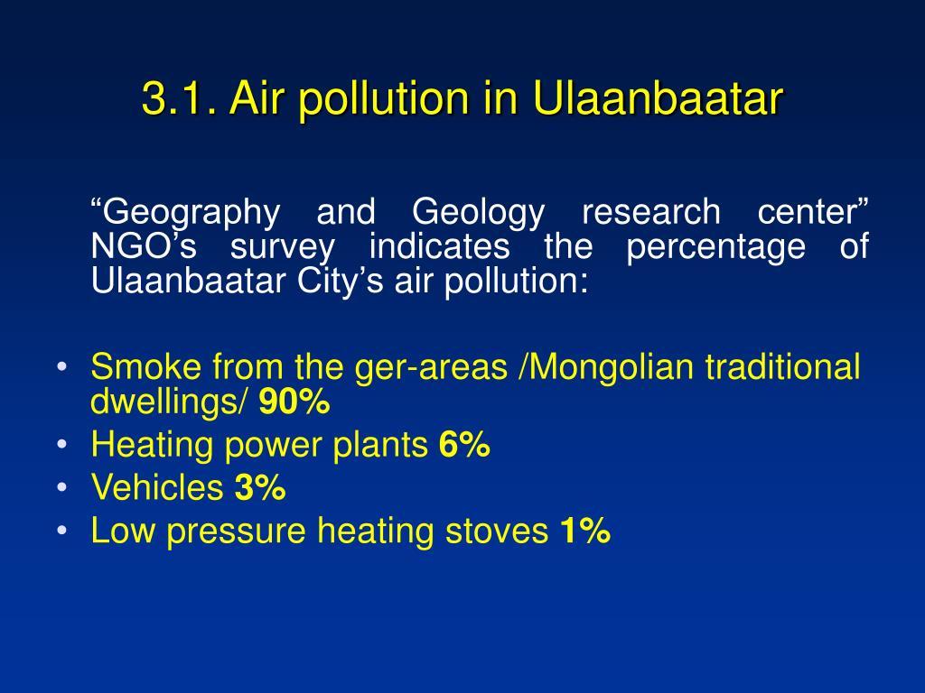 3.1. Air pollution in Ulaanbaatar