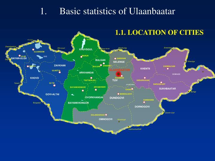 Basic statistics of ulaanbaatar