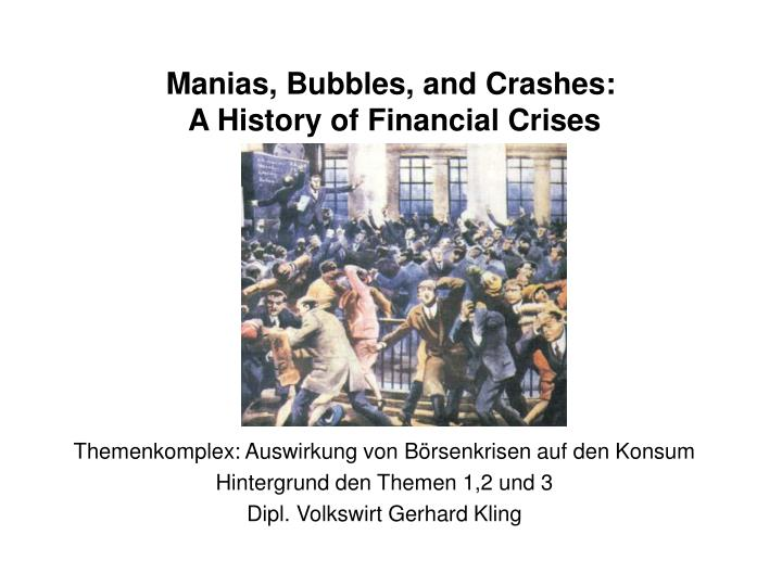 Manias bubbles and crashes a history of financial crises