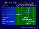 chd risk reduction statin therapy