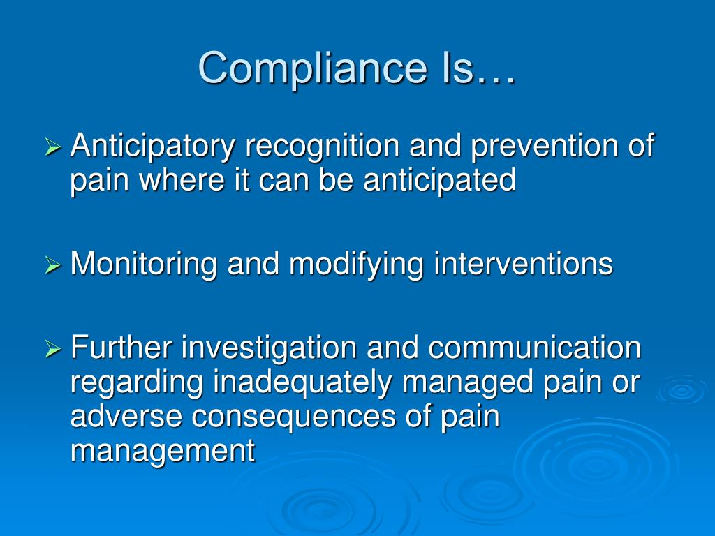 Compliance Is…
