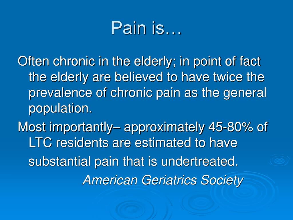 Pain is…
