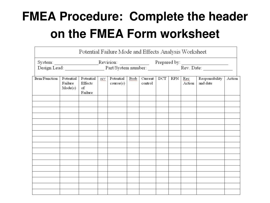 PPT - Failure Modes and Effects Analysis (FMEA) PowerPoint