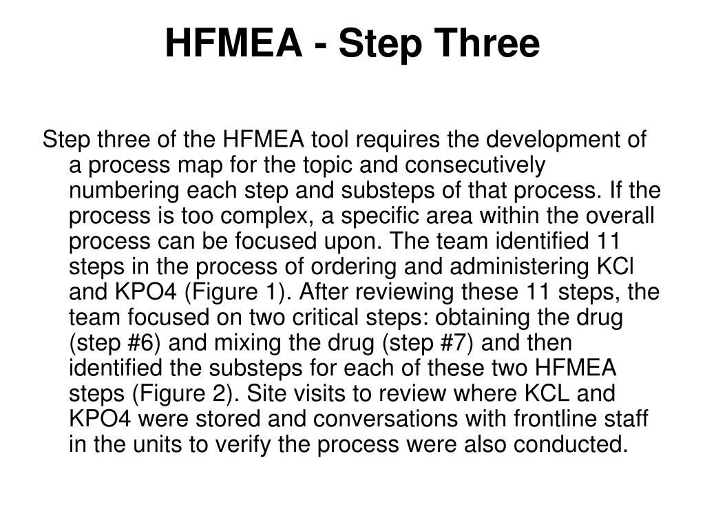 HFMEA - Step Three