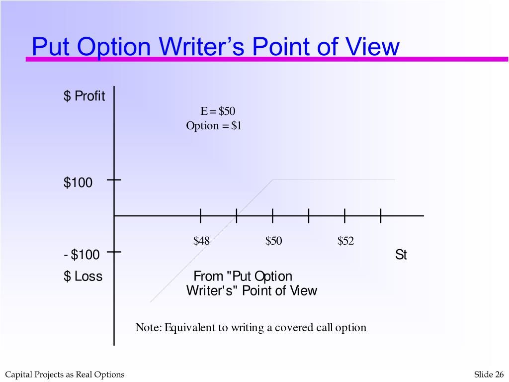 Put Option Writer's Point of View