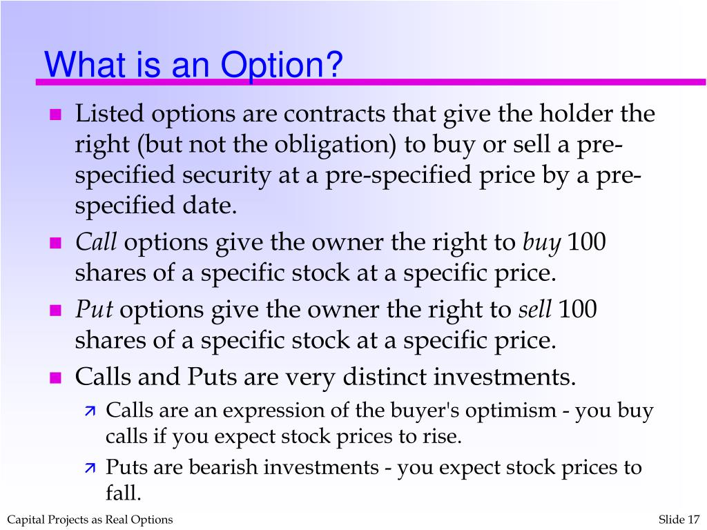 What is an Option?