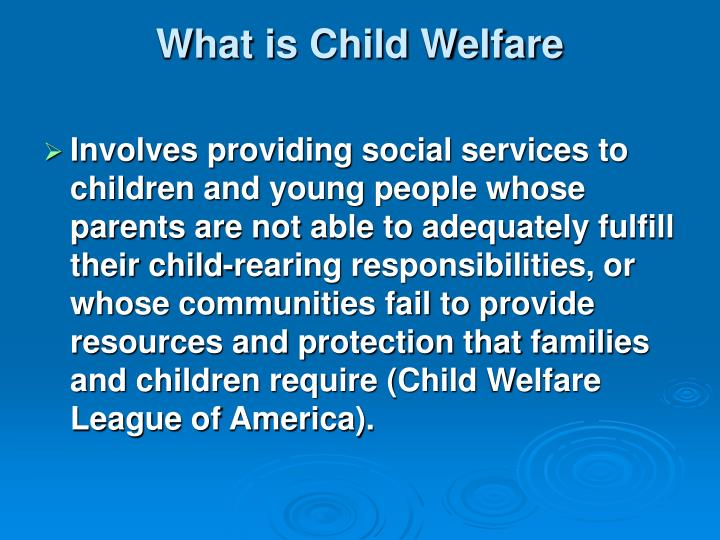 what is child welfare n.
