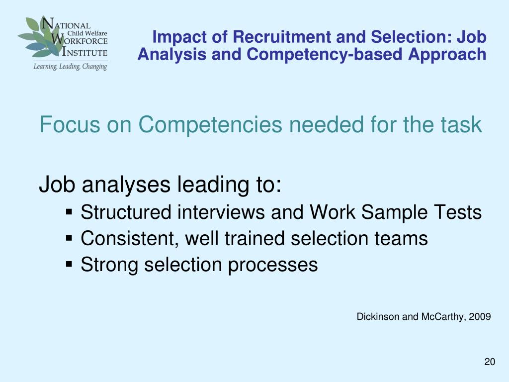 impact of job analysis on job