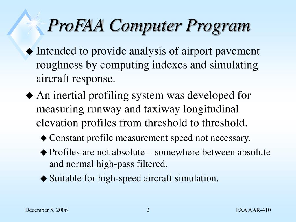 PPT - FAA Airport Pavement Roughness R&D PowerPoint