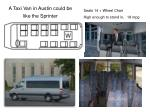 a taxi van in austin could be like the sprinter