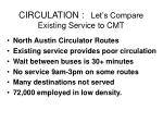 circulation let s compare existing service to cmt