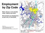 employment by zip code