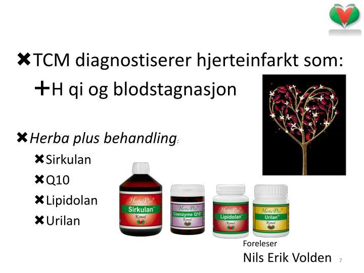 TCM diagnostiserer hjerteinfarkt som: