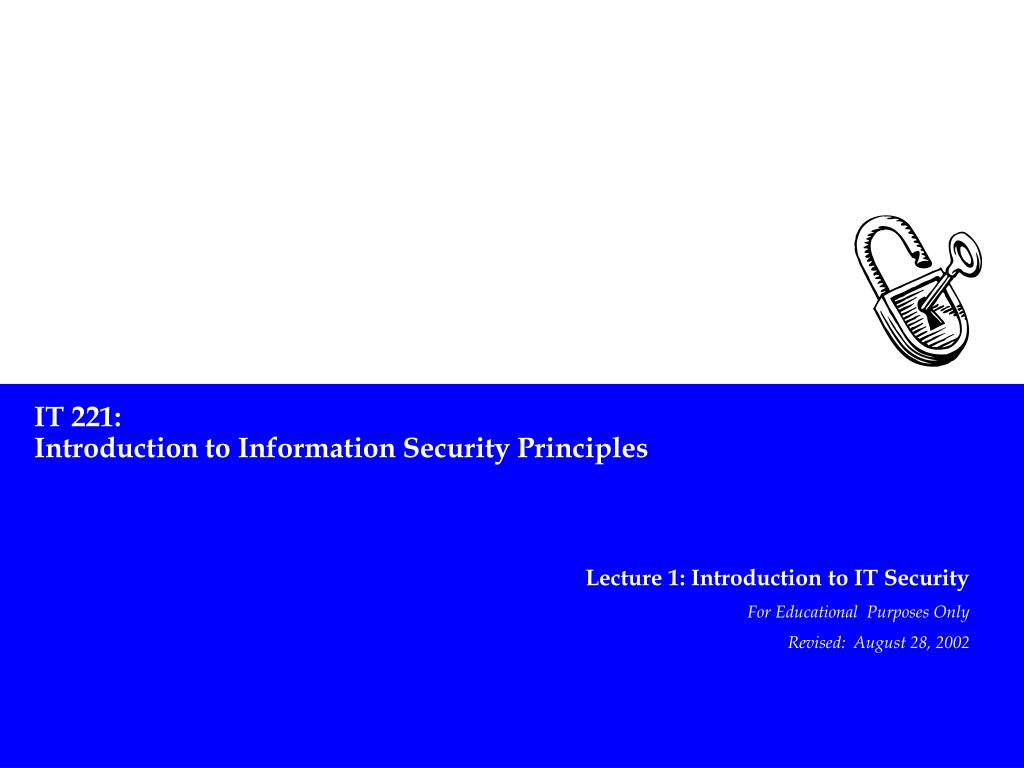 intro to information computer seccurity Introduction to cyber security if you're new to cyber security, we've created an overview on this exciting field network outages, hacking, computer viruses, and similar incidents affect our lives in ways that range from inconvenient to life-threatening.