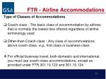 ftr airline accommodations