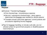 ftr baggage