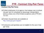 ftr contract city pair fares