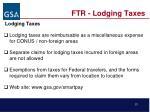 ftr lodging taxes