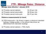 ftr mileage rates distance