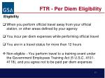 ftr per diem eligibility