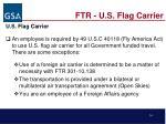 ftr u s flag carrier