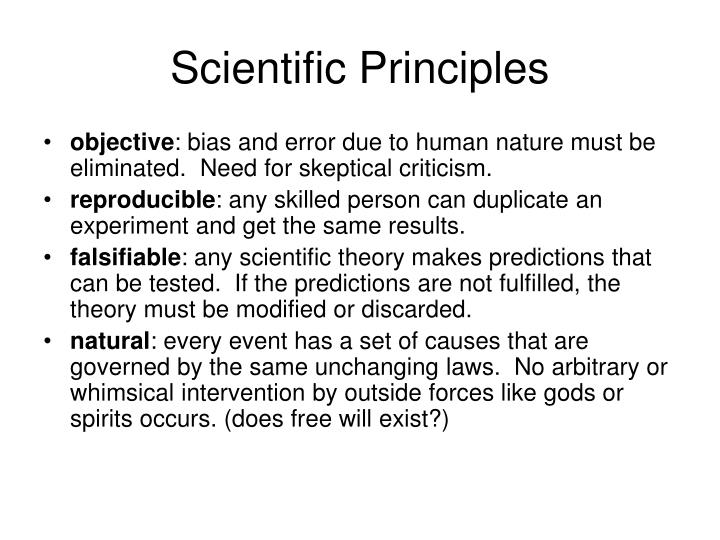 Scientific principles