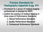 practice standards for radiography appendix a pg 411