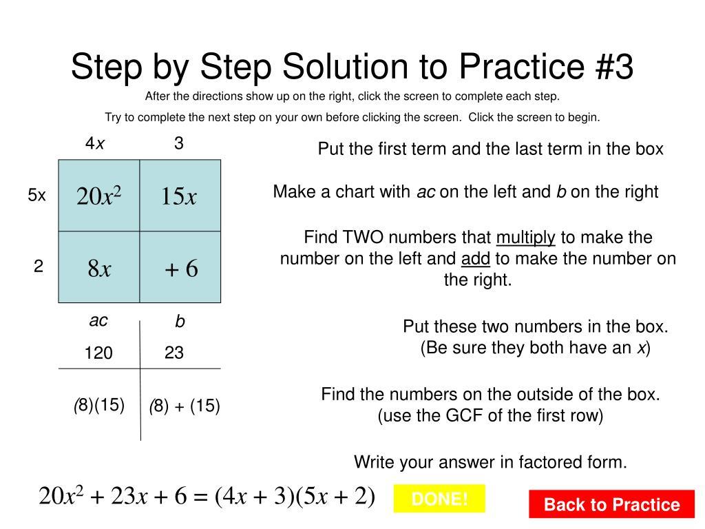 PPT - Factoring Quadratic Expressions Ax 2 + Bx + C