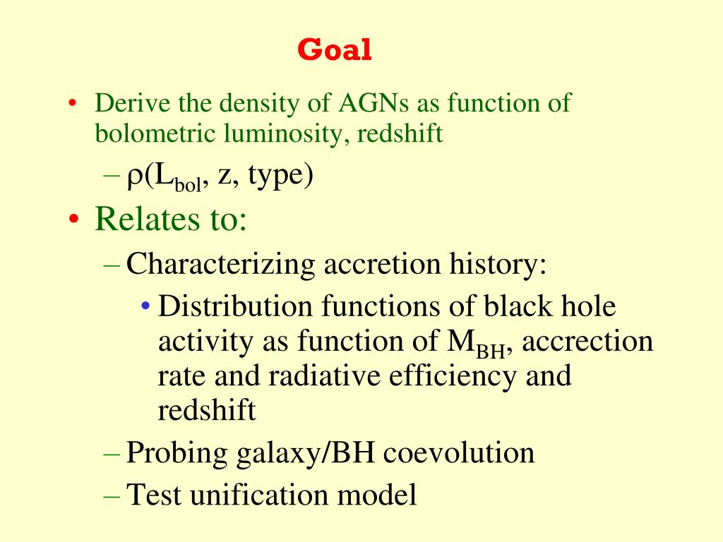 PPT - Lecture 2: AGN Survey and Luminosity Function PowerPoint