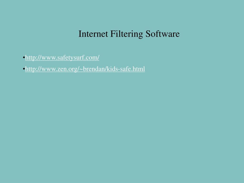 Internet Filtering Software