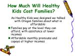 how much will healthy kids cost families