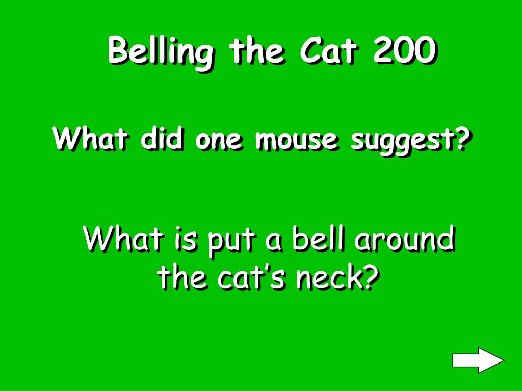 Belling the Cat 200